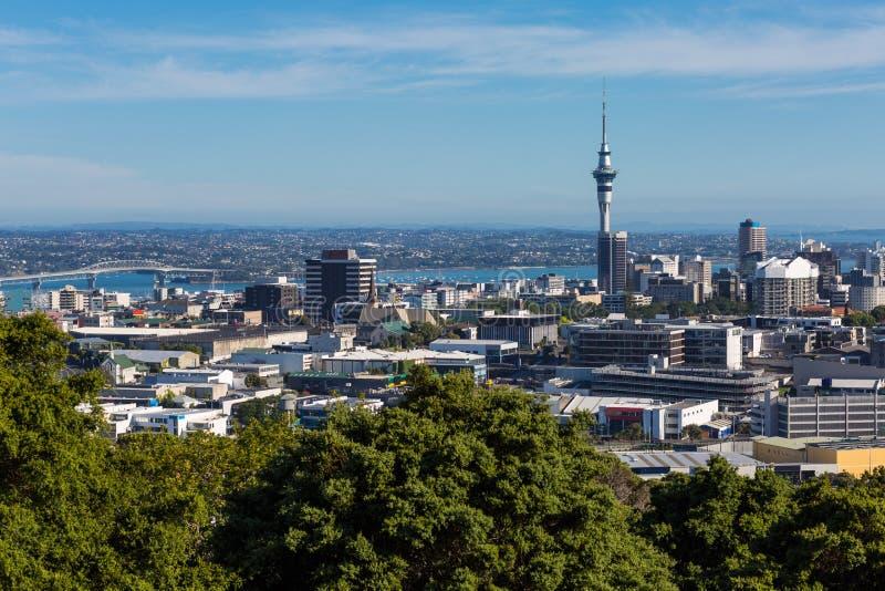 Arquitetura da cidade de Auckland, Nova Zelândia imagem de stock royalty free