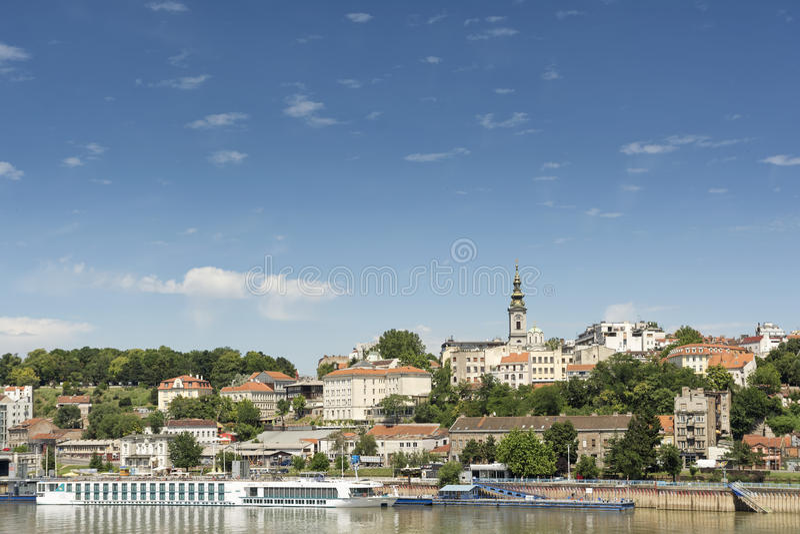 Arquitetura da cidade de Belgrado, Sérvia fotografia de stock