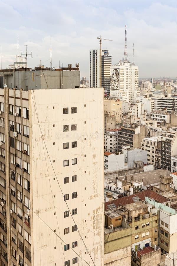 Arquitetura da cidade de Buenos Aires imagens de stock