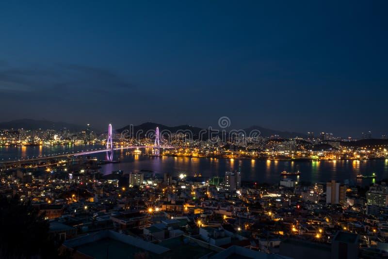 Arquitetura da cidade de Busan imagem de stock