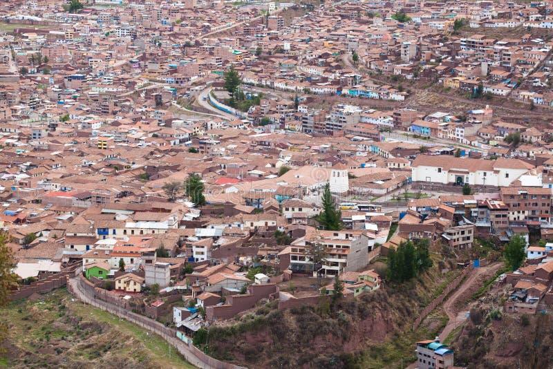 Arquitetura da cidade de Cuzco fotografia de stock royalty free