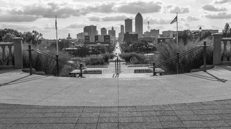 Arquitetura da cidade de Des Moines foto de stock royalty free