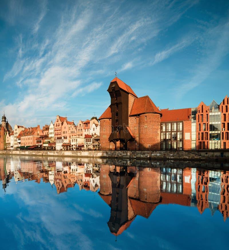Arquitetura da cidade de Gdansk fotos de stock