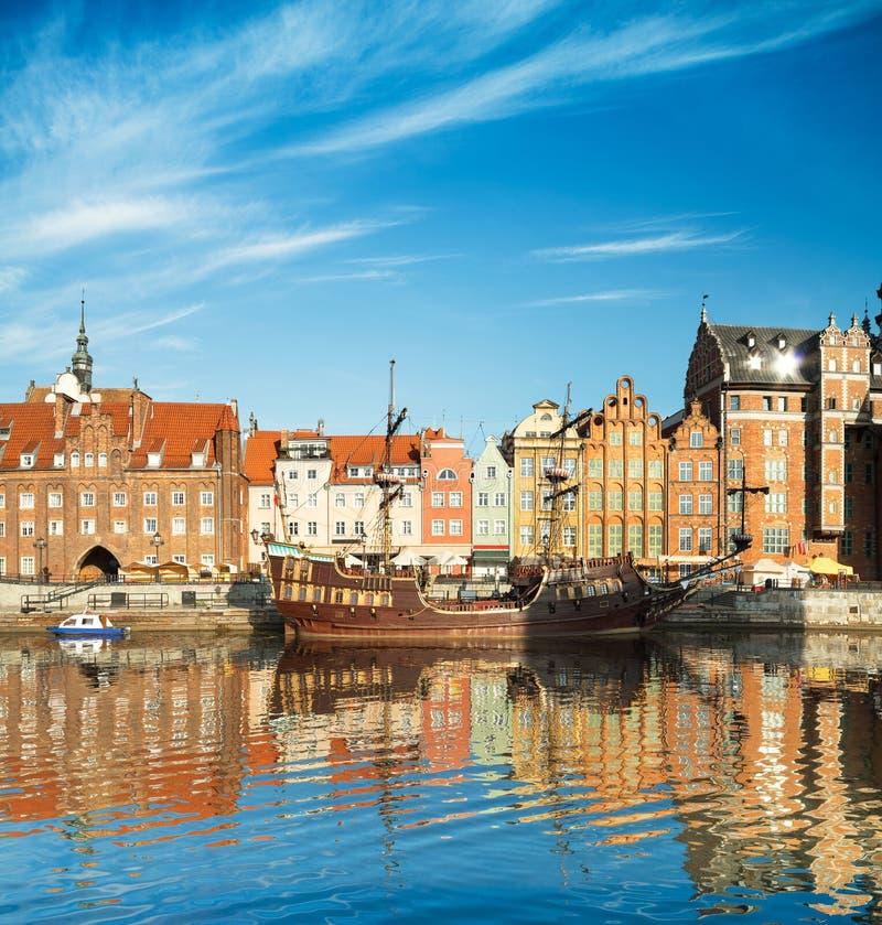 Arquitetura da cidade de Gdansk no Polônia fotos de stock