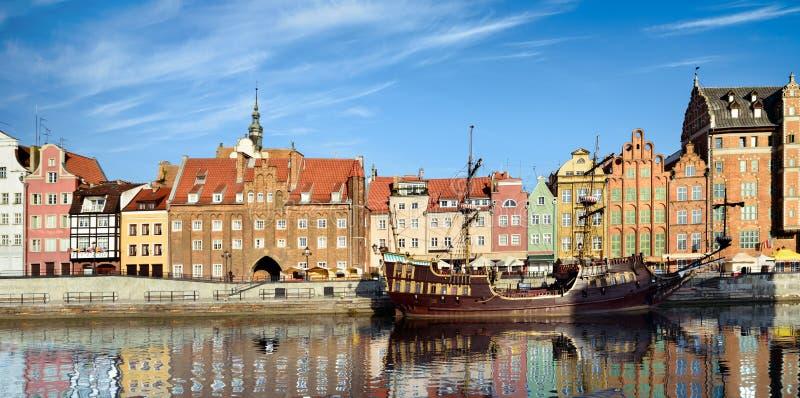 Arquitetura da cidade de Gdansk no Polônia fotografia de stock royalty free