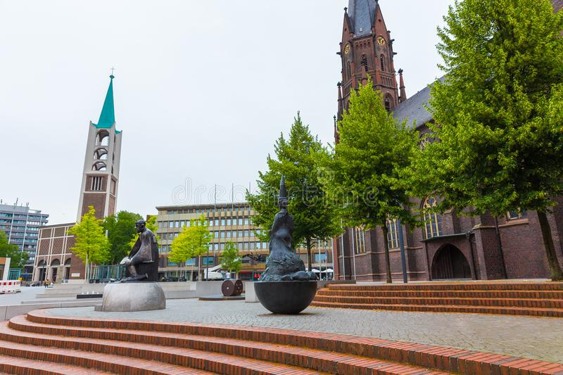 Arquitetura da cidade de Gelsenkirchen Alemanha fotos de stock royalty free