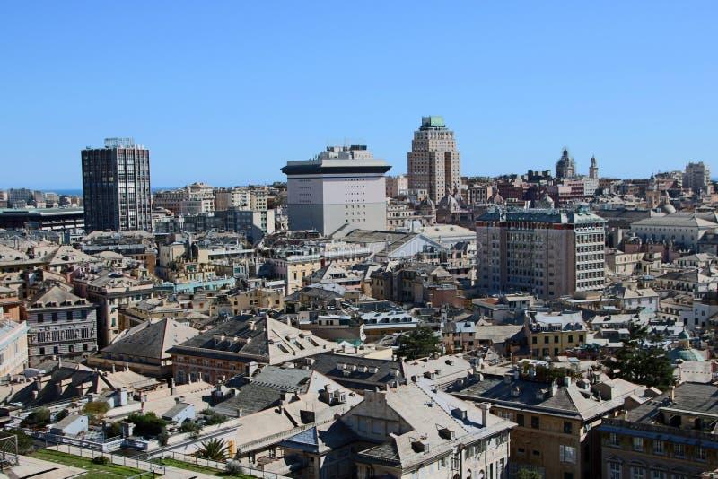 Arquitetura da cidade de Genoa fotografia de stock royalty free