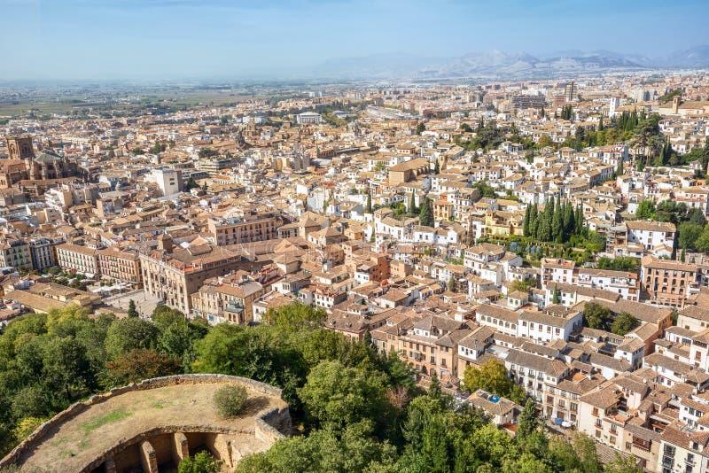 Arquitetura da cidade de Granada A Andaluzia, Espanha imagens de stock royalty free