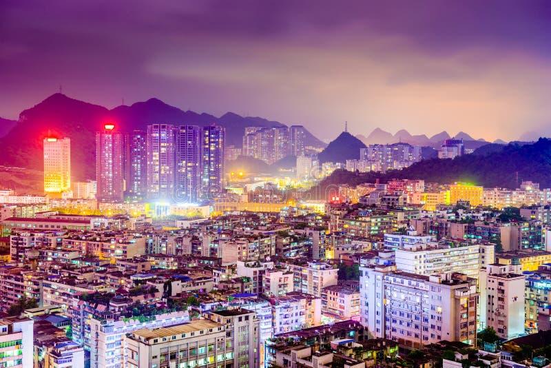 Arquitetura da cidade de Guiyang China fotos de stock