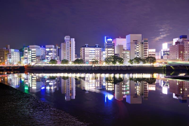 Arquitetura da cidade de Hiroshima fotografia de stock