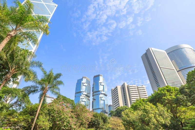 Arquitetura da cidade de Hong Kong Park fotografia de stock royalty free