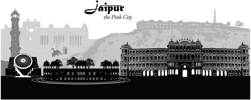Arquitetura da cidade de Jaipur ilustração royalty free
