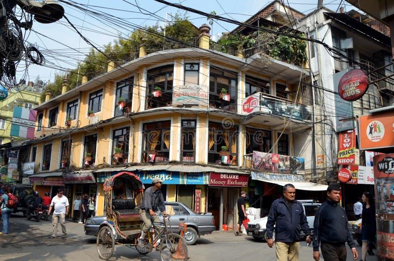 Arquitetura da cidade de Kathmandu imagem de stock