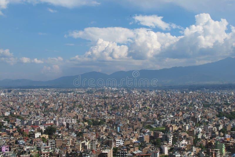 Arquitetura da cidade de Kathmandu foto de stock