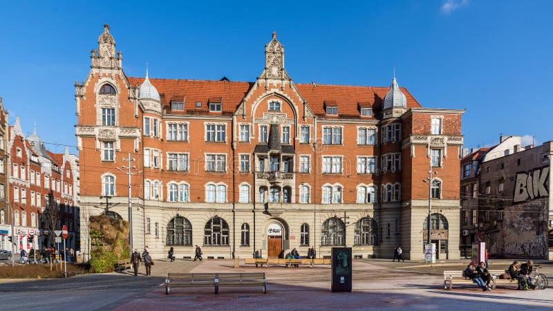Arquitetura da cidade de Katowice fotos de stock royalty free
