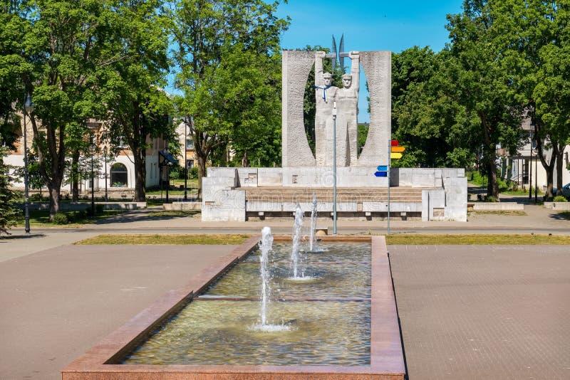 Arquitetura da cidade de Kohtla-Jarve Estônia, UE foto de stock royalty free