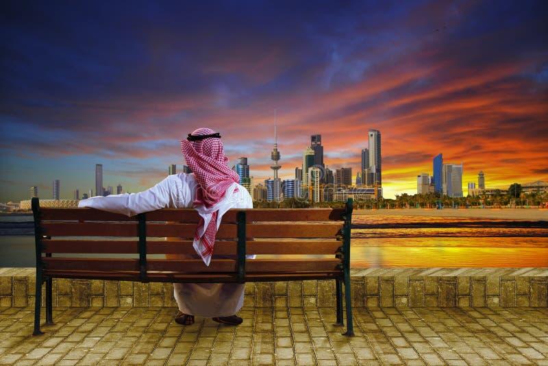 Arquitetura da cidade de Kuwait imagem de stock royalty free