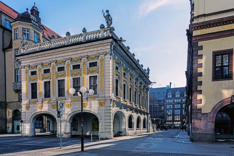 Arquitetura da cidade de Leipzig imagem de stock