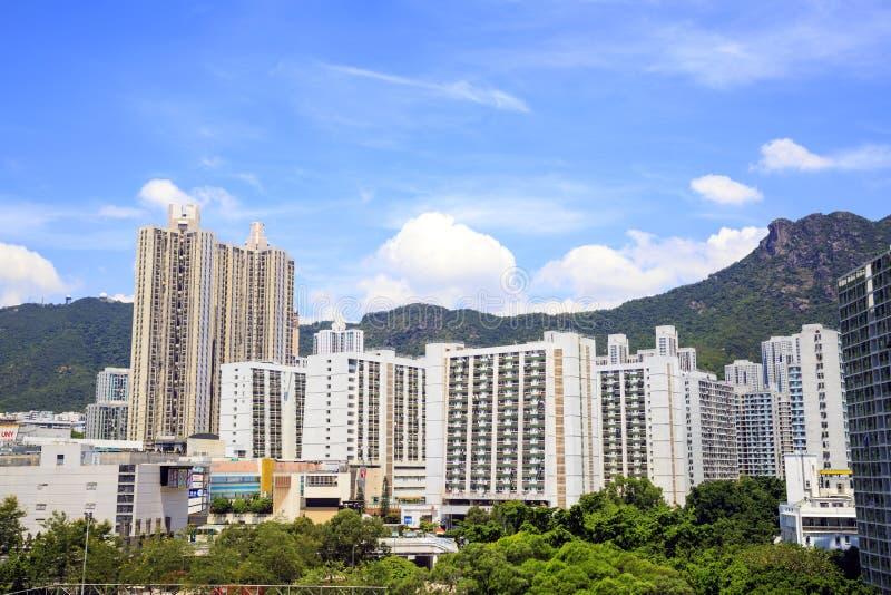 A arquitetura da cidade de Lok Fu em Hong Kong fotos de stock royalty free