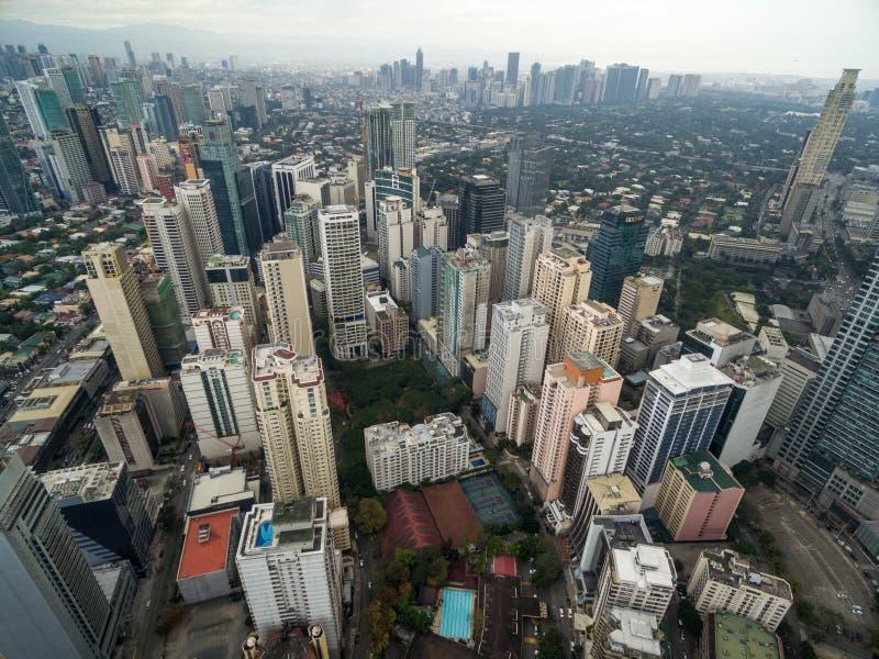Arquitetura da cidade de Manila, Filipinas Cidade de Makati imagem de stock royalty free