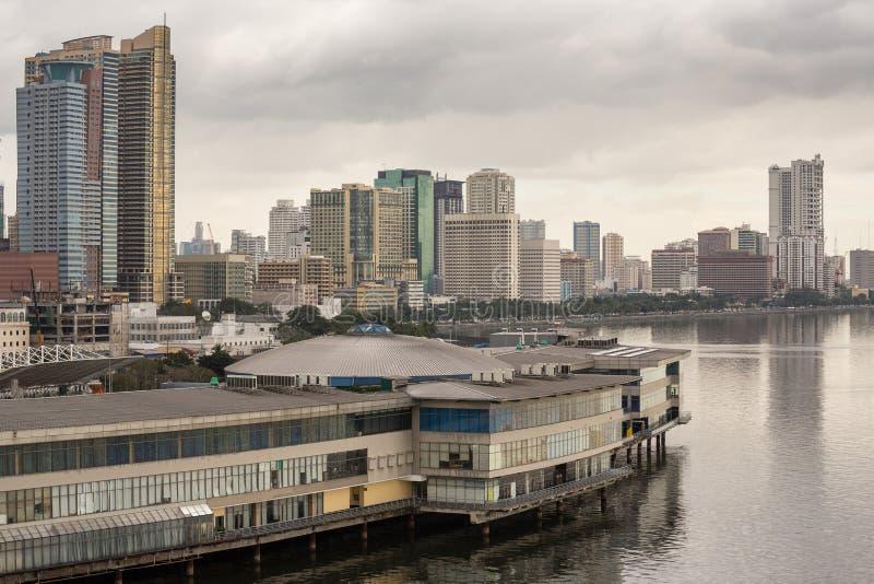 Arquitetura da cidade de Manila nas Filipinas foto de stock royalty free