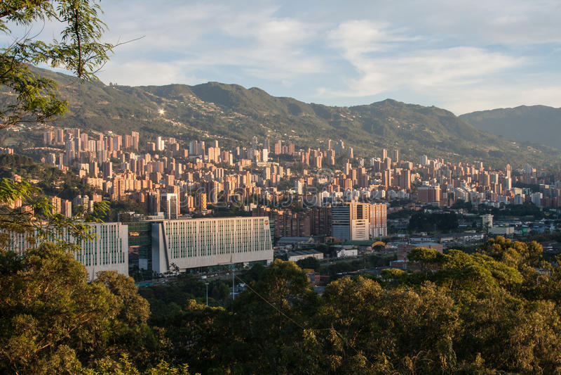 Arquitetura da cidade de Medellin imagem de stock royalty free