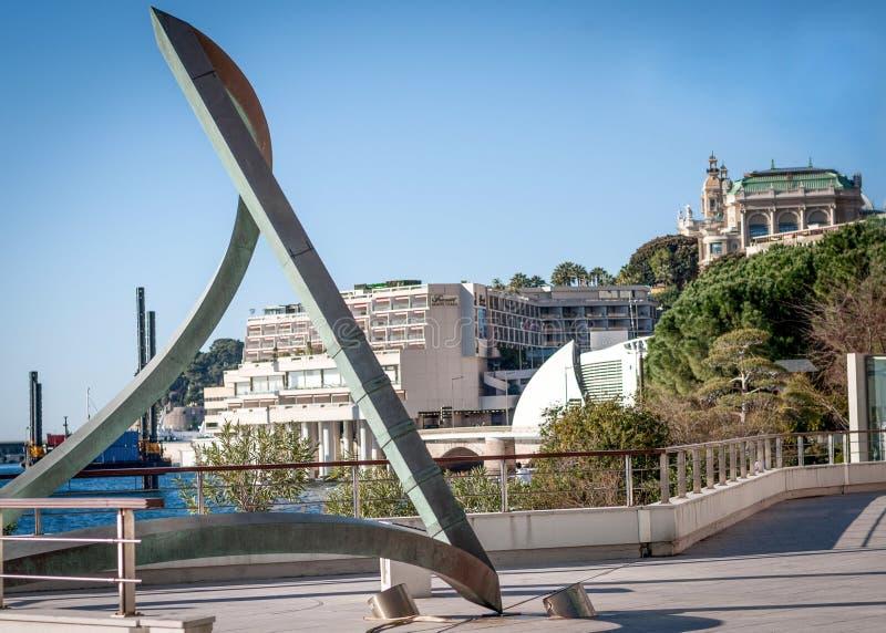 Arquitetura da cidade de Montecarlo, Mônaco imagem de stock royalty free