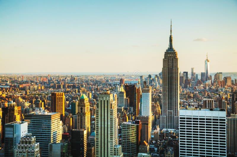 Arquitetura da cidade de New York City imagem de stock royalty free
