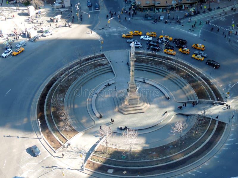 Arquitetura da cidade de New York em Columbus Circle, NYC imagem de stock