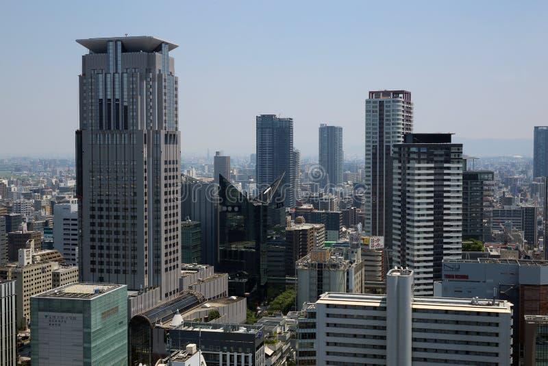 A arquitetura da cidade de Osaka, Japão imagens de stock