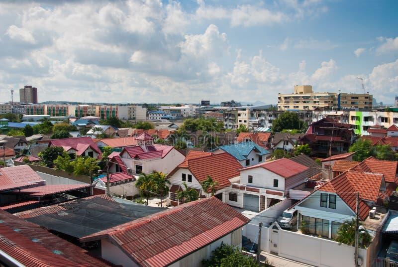 Arquitetura da cidade de pattaya Tailândia imagem de stock