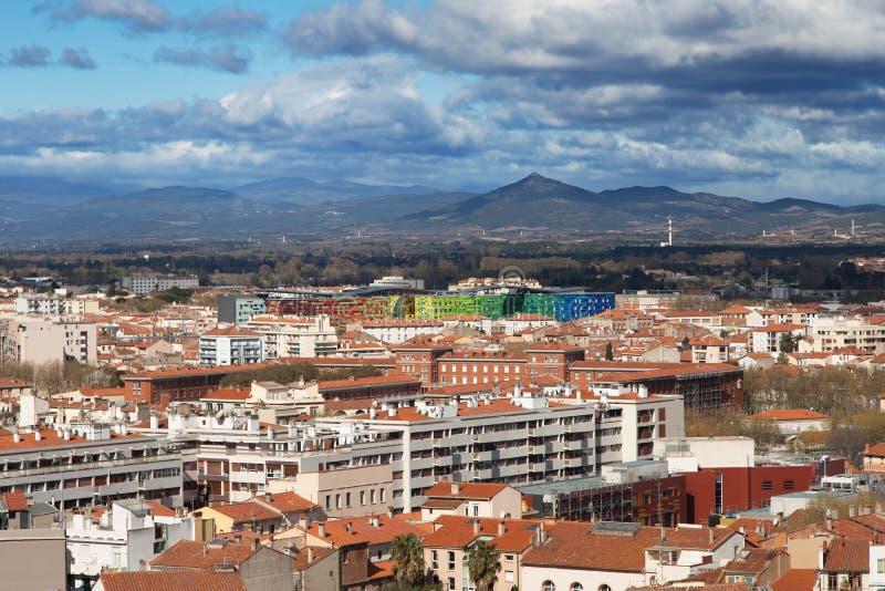 Arquitetura da cidade de Perpignan fotografia de stock