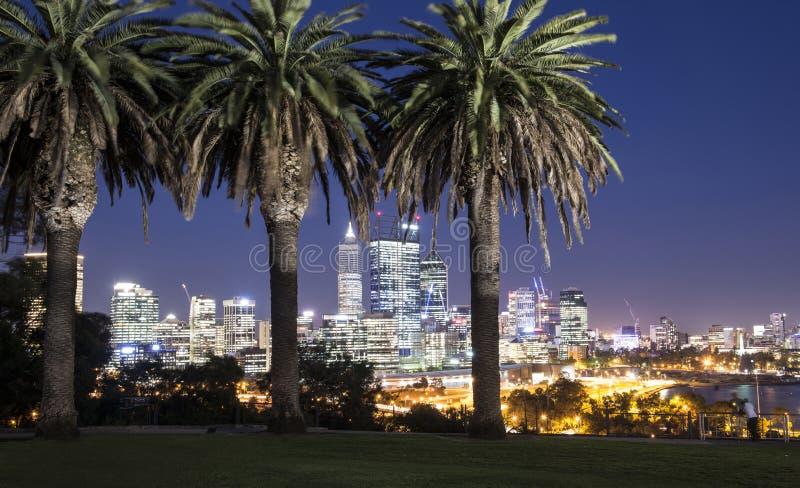 Arquitetura da cidade de Perth imagens de stock