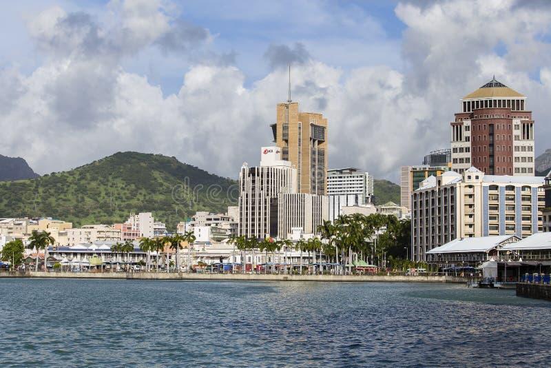 Arquitetura da cidade de Port Louis, ilha Maurícias fotos de stock