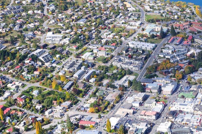 Arquitetura da cidade de Queenstown, Nova Zelândia imagens de stock royalty free