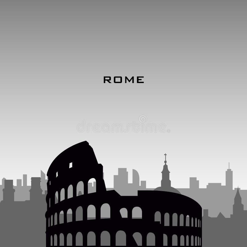 Arquitetura da cidade de Roma ilustração stock