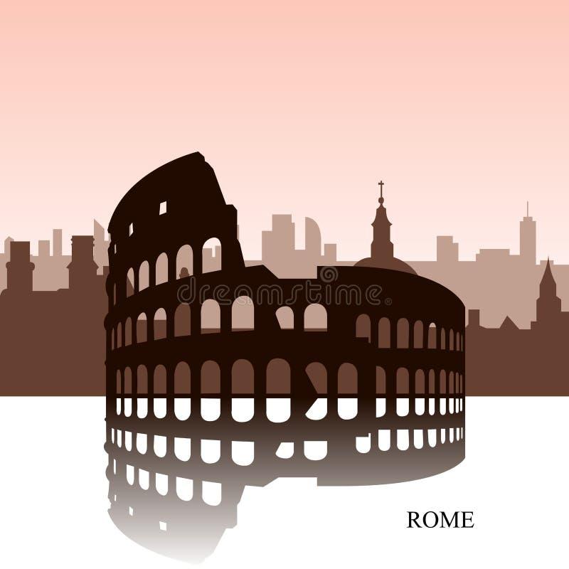 Arquitetura da cidade de Roma ilustração do vetor