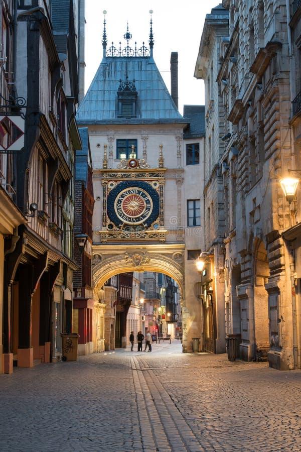 Arquitetura da cidade de Rouen imagem de stock