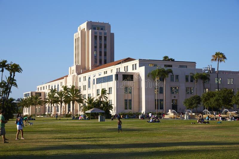 Arquitetura da cidade de San Diego e opinião da rua imagem de stock royalty free
