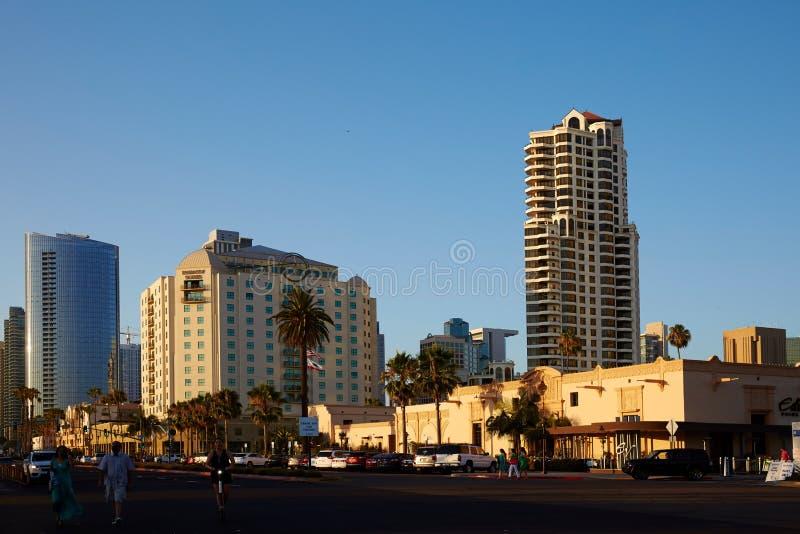 Arquitetura da cidade de San Diego e opinião da rua foto de stock