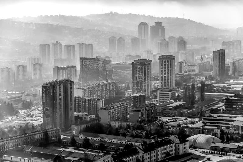 Arquitetura da cidade de Sarajevo Bósnia-Hercegovina fotos de stock