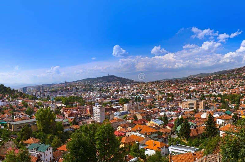 Arquitetura da cidade de Sarajevo - de Bósnia e de Herzegovina fotos de stock royalty free