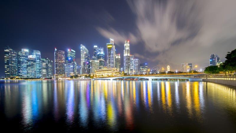 Arquitetura da cidade de Singapura com construções urbanas foto de stock royalty free