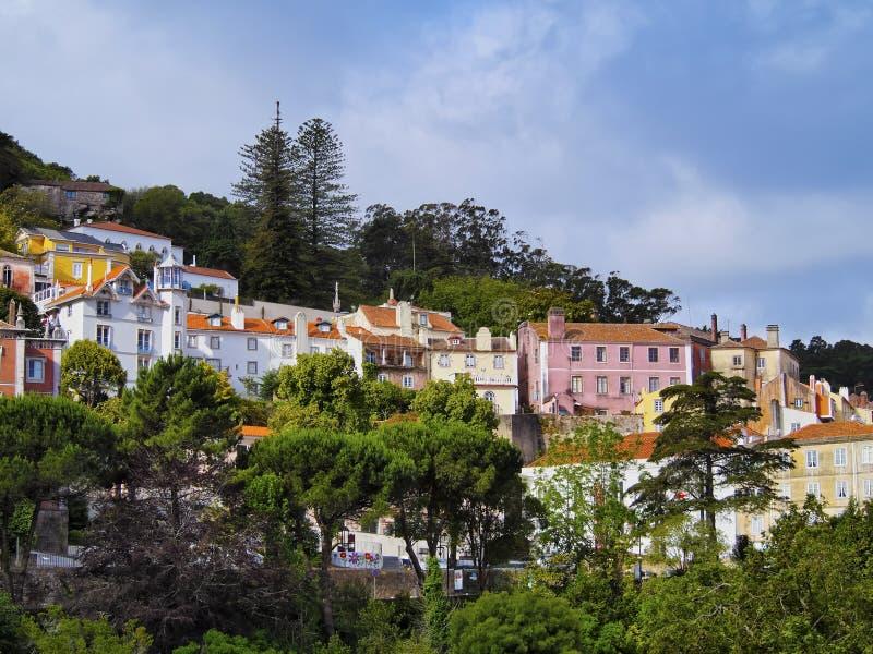 Arquitetura da cidade de Sintra foto de stock royalty free