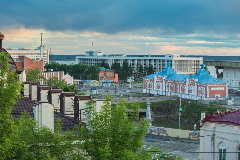 Arquitetura da cidade de Tomsk Federação Russa fotos de stock