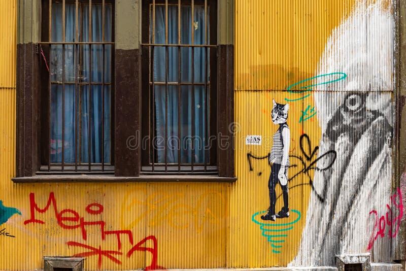 Arquitetura da cidade de Valparaiso, o Chile imagem de stock royalty free