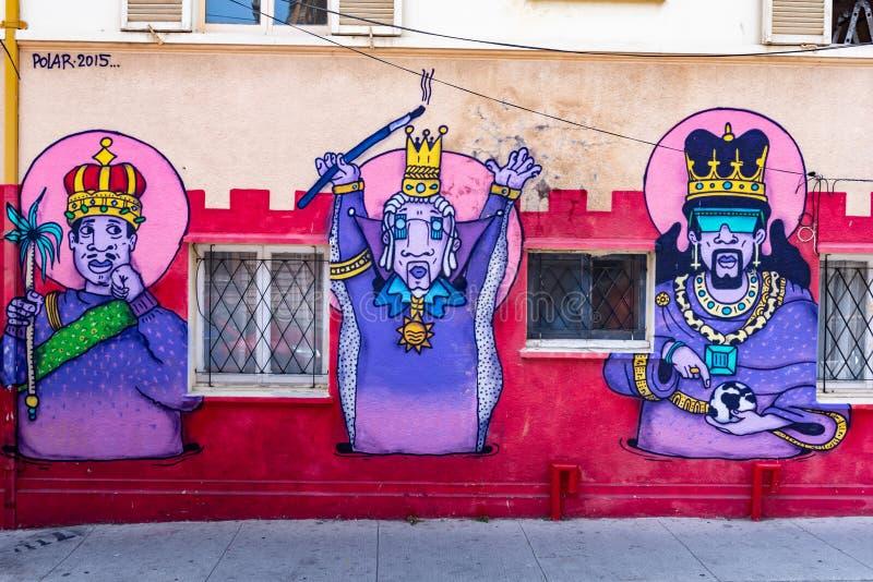 Arquitetura da cidade de Valparaiso, o Chile fotografia de stock royalty free