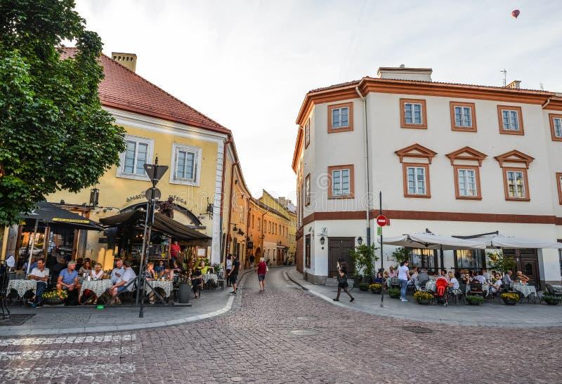 Arquitetura da cidade de Vilnius Cidade velha de Vilnius, Lituânia foto de stock royalty free