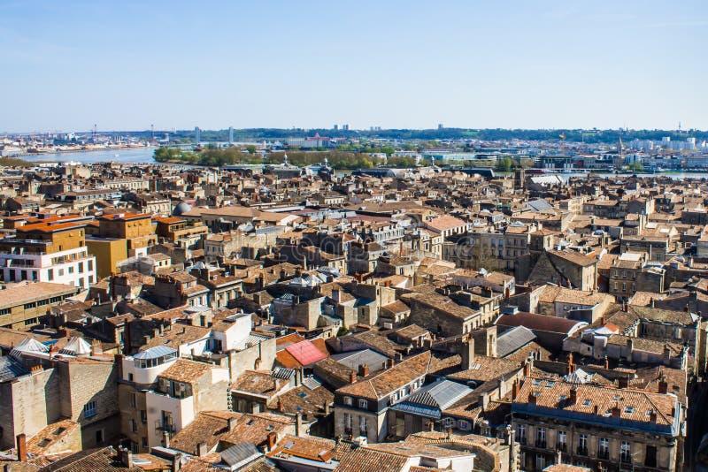 Arquitetura da cidade do Bordéus, França fotografia de stock royalty free