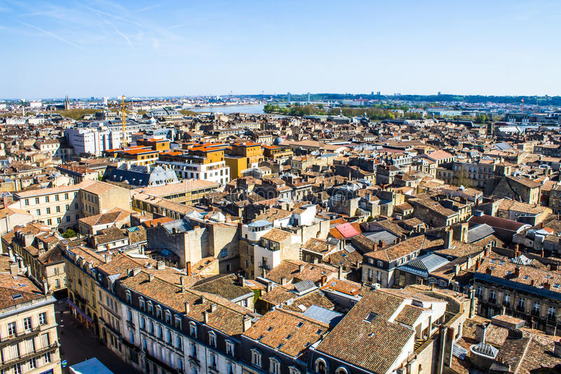 Arquitetura da cidade do Bordéus, França imagem de stock royalty free